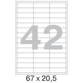 73640 Этикетки самоклеящиеся Promega label белые 67х20.5 мм (42 штуки на листе А4, 100 листов в упаковке)