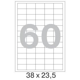 73647 Этикетки самоклеящиеся Promega label белые 38х23.5 мм (60 штук на листе А4, 100 листов в упаковке)
