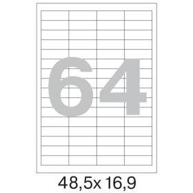 73579 Этикетки самоклеящиеся Promega label белые 48.5х16.9 мм (64 штуки на листе А4, 100 листов в упаковке)