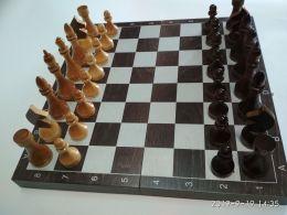 Шахматы гроссмейстерские деревянные, тонированные