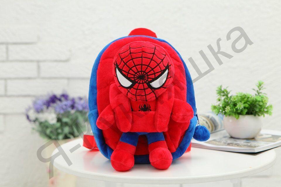 """Детский рюкзак с плюшевой игрушкой """"Человек-Паук"""""""