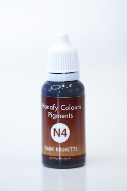 Пигменты для бровей Hanafy Colours Pigments N4 Dark Brunette
