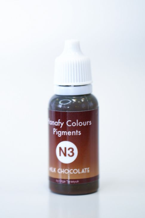 Пигменты для бровей Hanafy Colours Pigments N3 Milk Chocolate