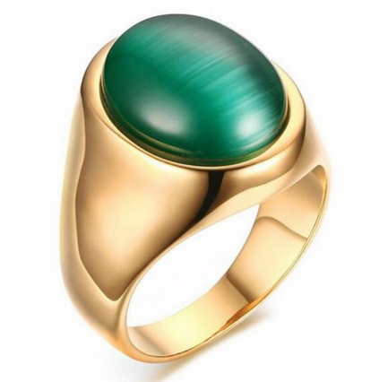 Кольцо с зеленым Опалом