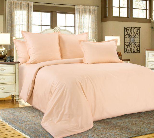 Нежный персик постельное белье сатин