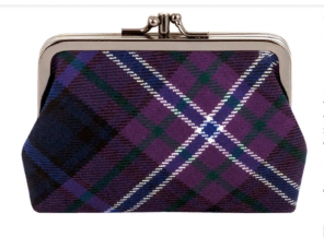 "Шотландский кошелёк (клатч) тартан ""Шотландия навсегда"" SCOTLAND FOREVER MODERN TARTAN DOUBLE MEDIUM PURSE"