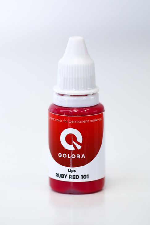 Пигменты QOLORA Lips Ruby Red 101