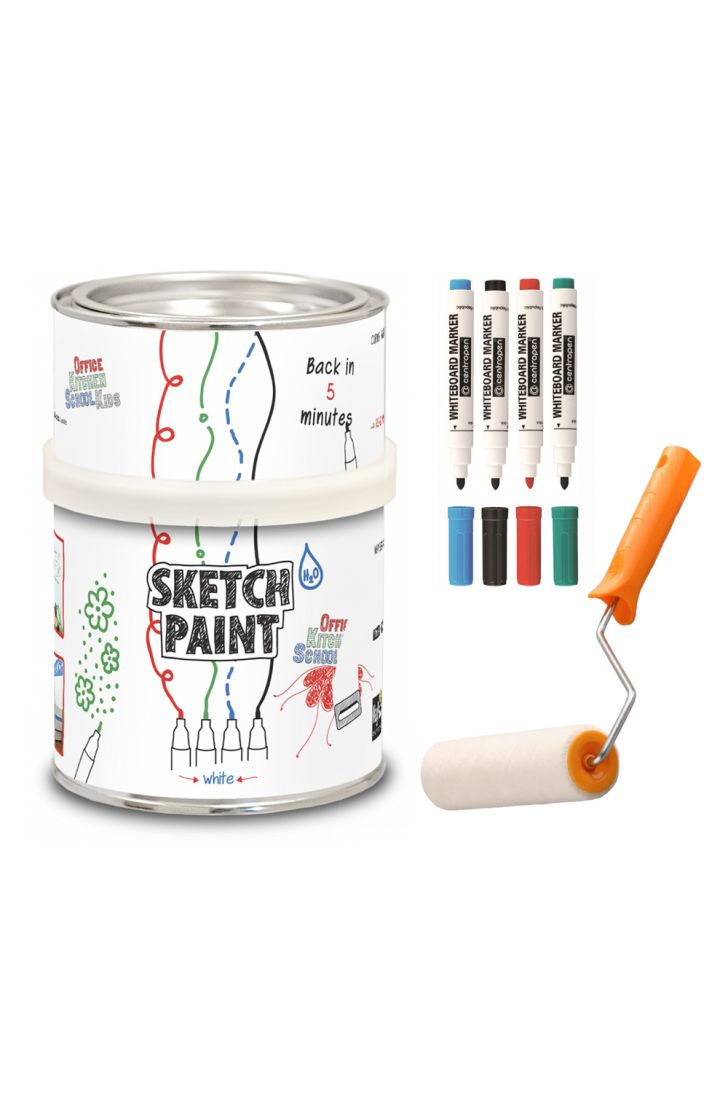 Белое глянцевое маркерное покрытие SketchPaint KIT (набор)
