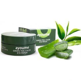 AYOUME Green Tea + Aloe Eye Patch 60шт - Патчи для глаз с экстрактами зеленого чая и алое