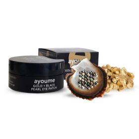 AYOUME Gold + Black Pearl Eye Patch 60шт (Смята коробка)- Патчи для глаз с золотом и черным жемчугом