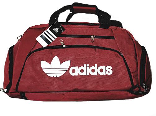 Спортивная сумка-рюкзак с отделом для обуви цвет бордовый