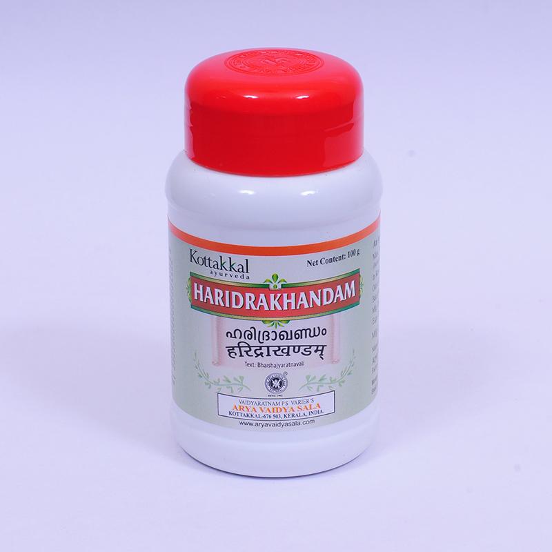 Харидракхандам, средство от аллергии, 100 г, производитель Коттаккал Аюрведа; Haridrakhandam, 100 g, Kottakkal Ayurveda