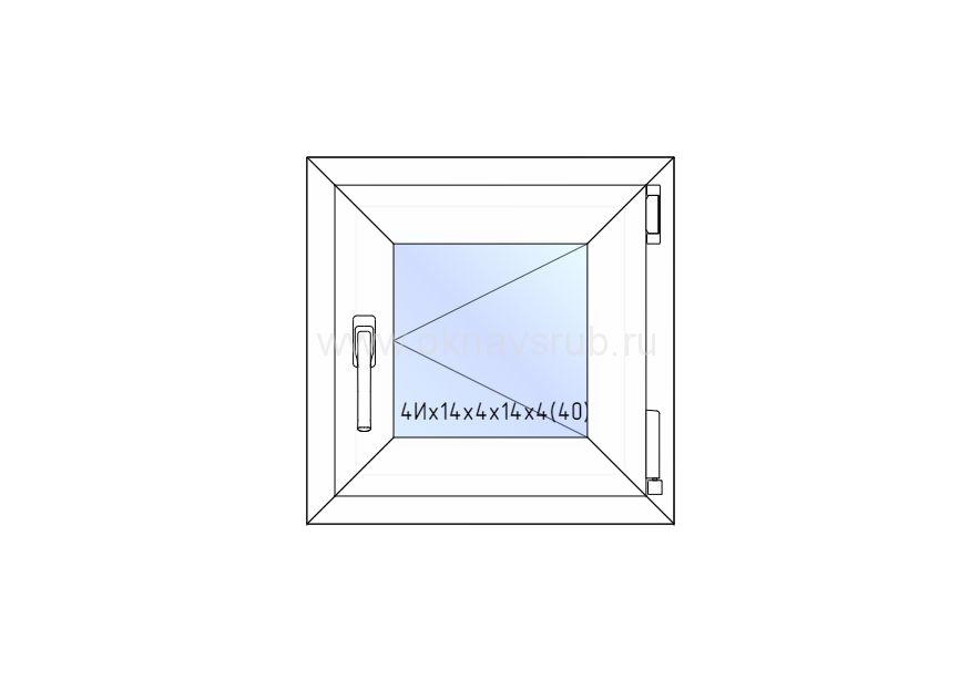 Окно REHAU 500х500 поворотное
