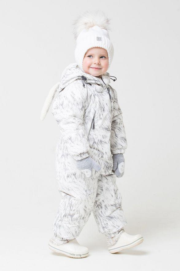 Комбинезон светло-серый мех Crockid