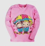 Джемпер для девочки с начесом  1-4 лет BK006 розовый