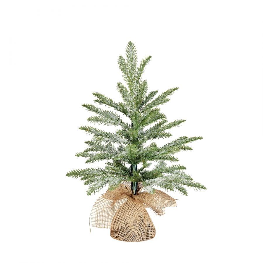 Искусственная елка Чемберлен 45 см в мешочке заснеженная