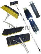 Скребок для уборки снега с крыши пластиковая насадка с телескопической ручкой