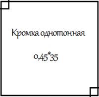 Кромка ПВХ однотонная 0,45*35