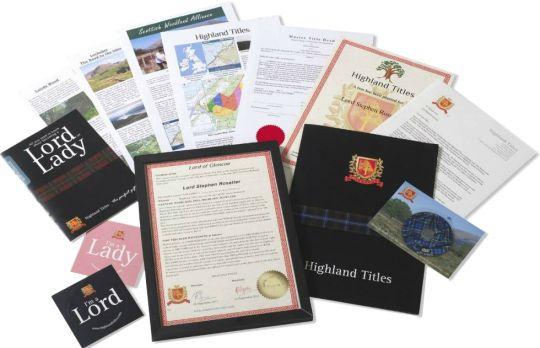 Восстановление документов для Титул Лорда или Леди Шотландии