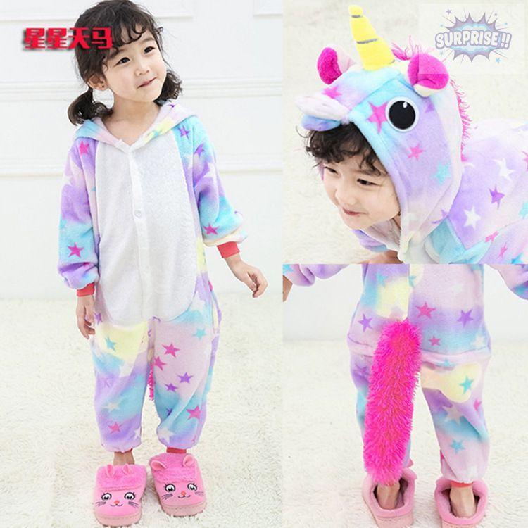 Кигуруми пижама-комбинезон Единорог звездный