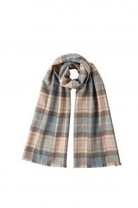 стильный однотонный шарф 100% шерсть мериноса, тартан клана Маккелар  NATURAL MACKELLAR  BRUSHED MERINO, средняя плотность 4