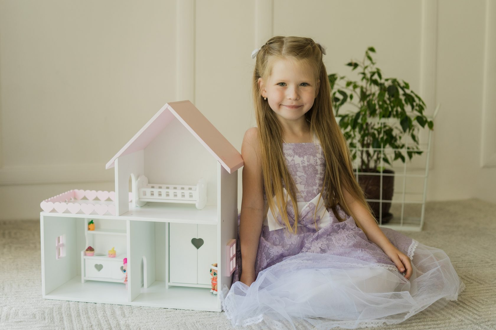Кукольный домик Мини с балконом