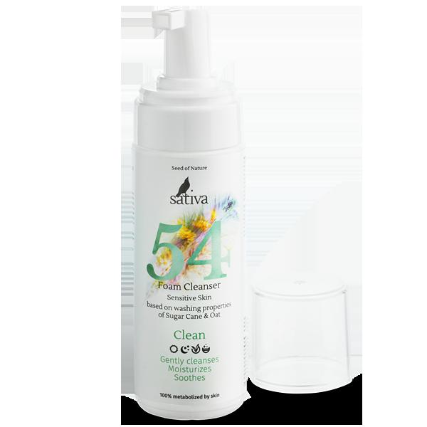 Пенка очищающая №54 для чувствительной кожи лица, 165мл