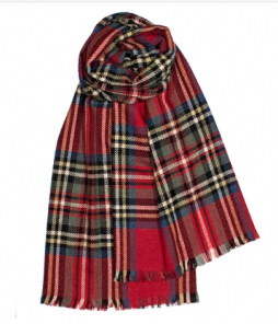 """Шотландский воздушный широкий палантин Королевский Стюарт, коллекция """"Брок"""" BROCK STEWART ROYAL FINE STOLE, тонкорунная овечья шерсть и драгоценный кашемир, плотность 3"""
