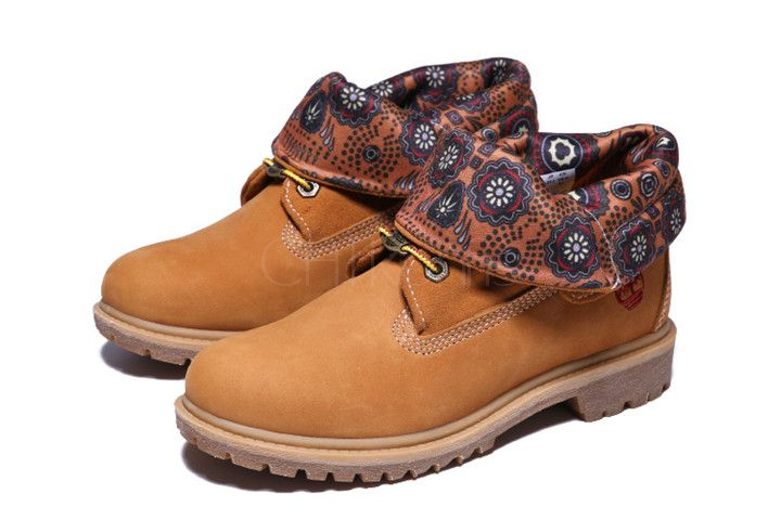 TIMBERLAND  ROLL-TOP BOOTS Chestnut