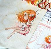 """Схема для вышивания крестиком """"Рыжий ветер"""". Отшив."""
