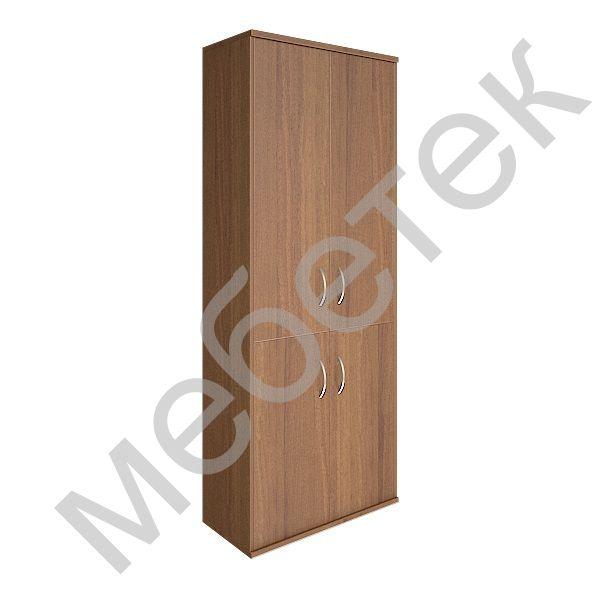 Шкаф высокий широкий (2 низкие двери ЛДСП, 2 средние двери ЛДСП)