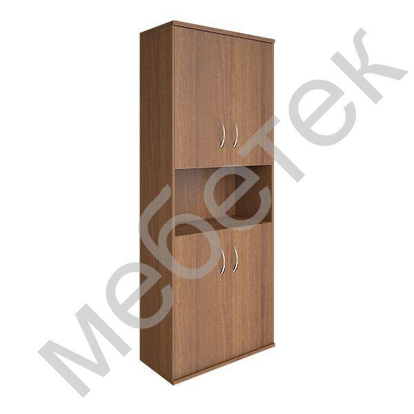 Шкаф высокий широкий (4 низкие двери ЛДСП)