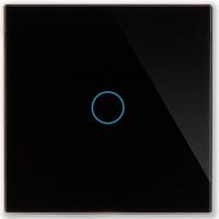 Однолинейная панель стеклянная черная CGSS WT-P01B