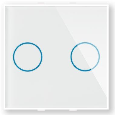 """Двухлинейная панель стеклянная белая в рамку """"Эстетика"""" CGSS GL-PN02W"""