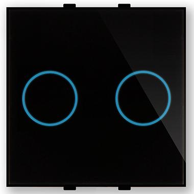 """Двухлинейная панель стеклянная черная в рамку """"Эстетика"""" CGSS GL-PN02B"""