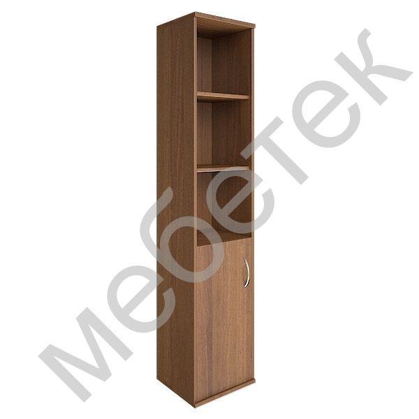 Шкаф высокий узкий левый (1 низкая дверь ЛДСП)