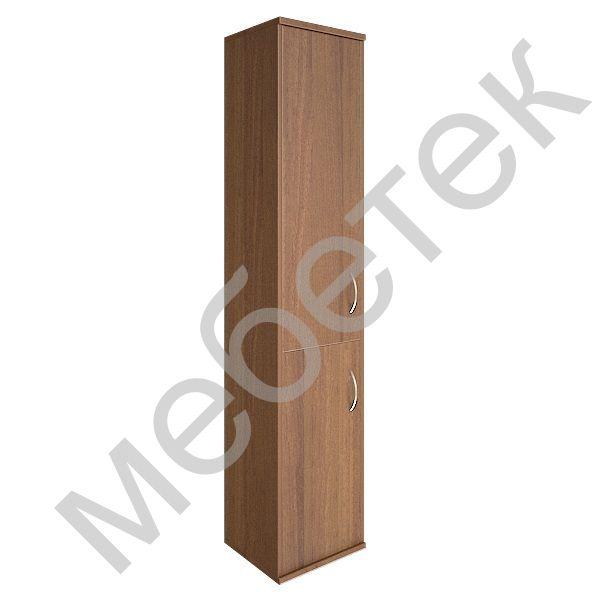 Шкаф высокий узкий левый (1 низкая дверь ЛДСП, 1 средняя дверь ЛДСП)