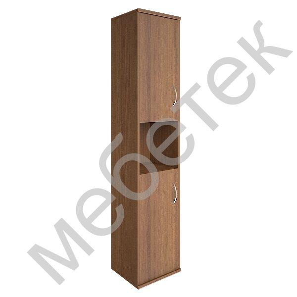 Шкаф высокий узкий левый (2 низкие двери ЛДСП)