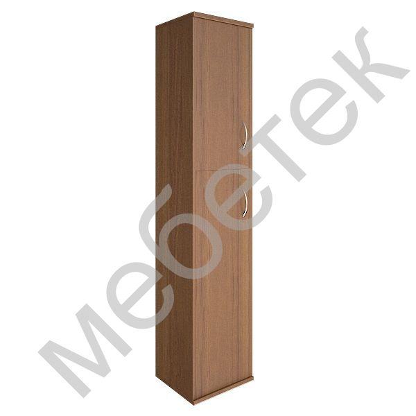 Шкаф высокий узкий левый (1 средняя дверь ЛДСП, 1 низкая дверь ЛДСП)