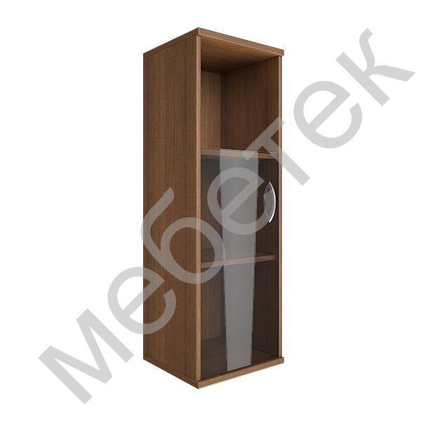 Шкаф средний узкий левый (1 низкая дверь стекло)