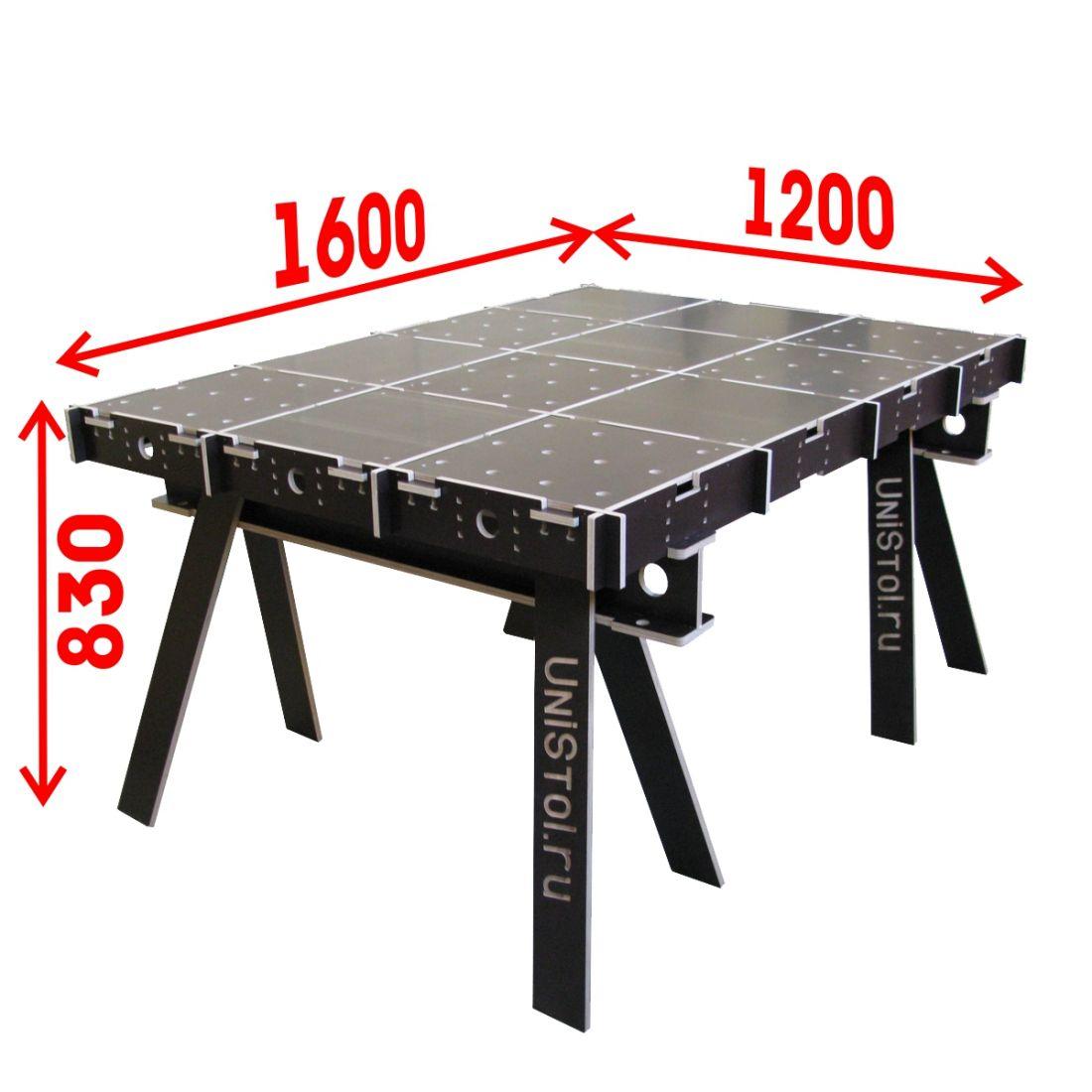 Ячеистый стол для раскроя листовых материалов 1200x1600 мм со столешницей