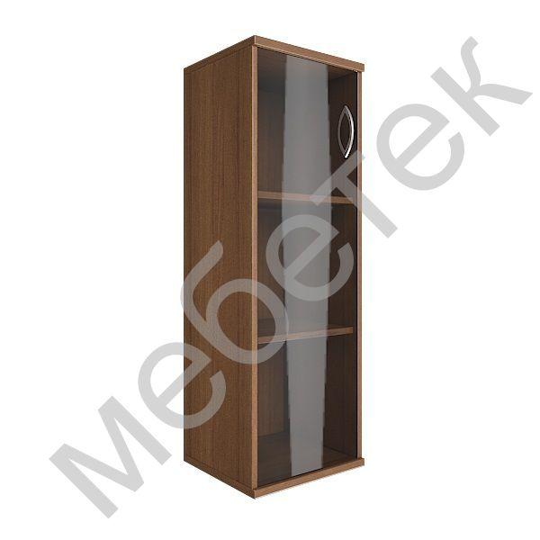 Шкаф средний узкий левый (1 средняя дверь стекло)