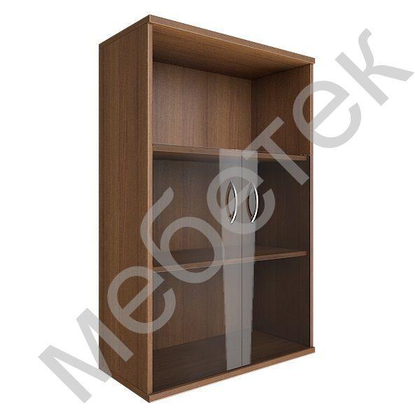 Шкаф средний широкий (2 низкие двери стекло)