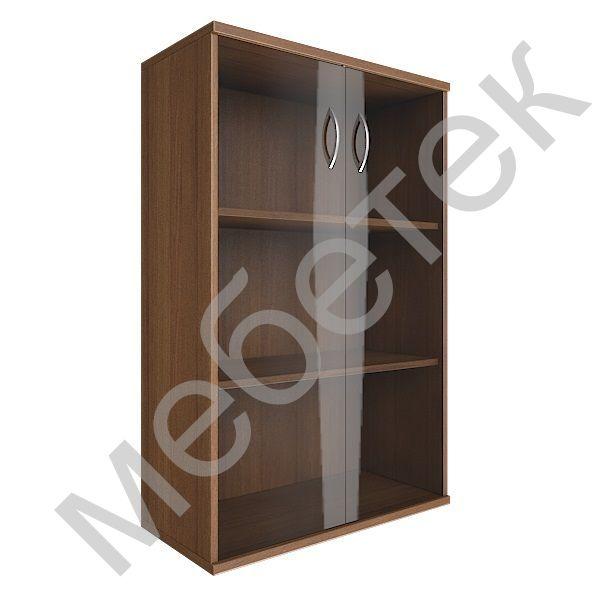 Шкаф средний широкий (2 средние двери стекло)