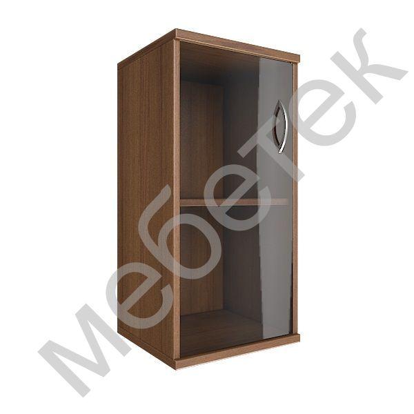 Шкаф низкий узкий левый (1 низкая дверь стекло)