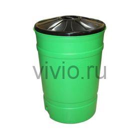 Бочка-бак 200л с крышкой ф700*1000мм пластик