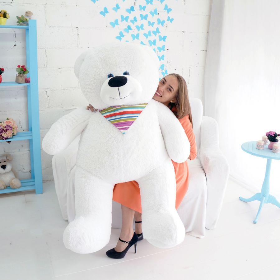 Мишка Добрыня 180см Белый