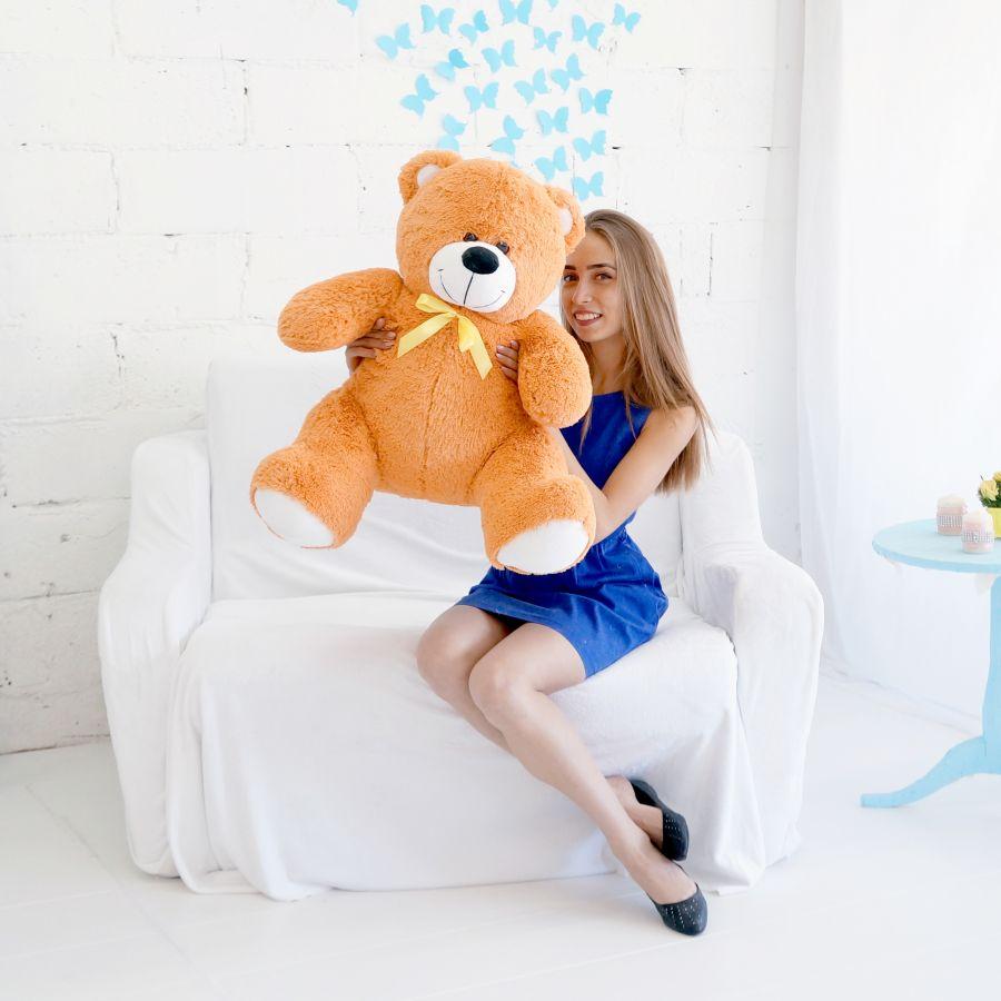 Мишка Кузя 100см Карамельный