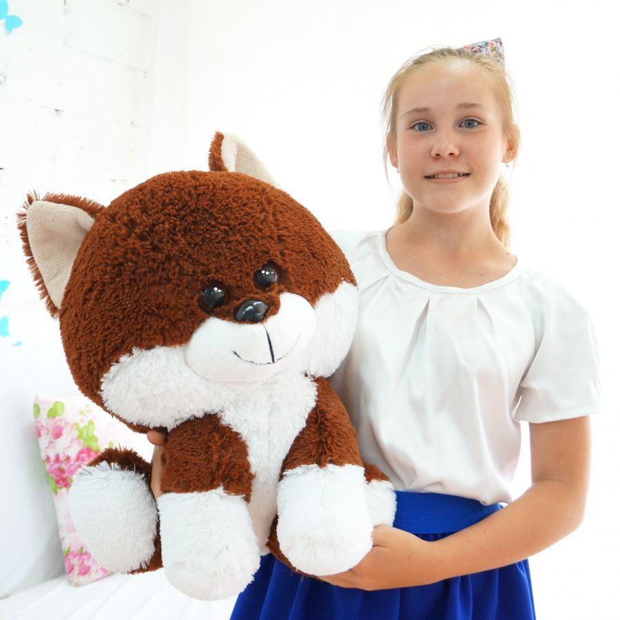 Собака Вольт (Сидя - 45см) Коричневый