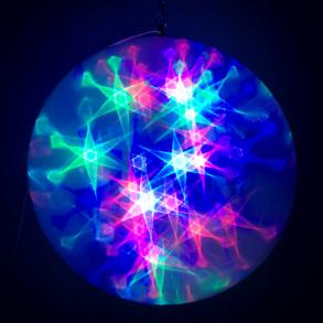 Большой эксклюзивный шар с LED светодиодами 28 см